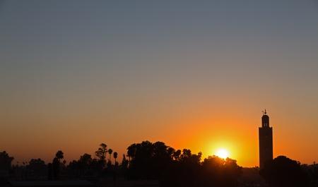 prayer tower: Marrakesh sunset