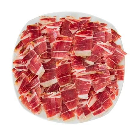 dry-cured ham slices Stockfoto