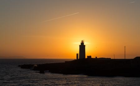 tarifa: Sunset at lighthouse
