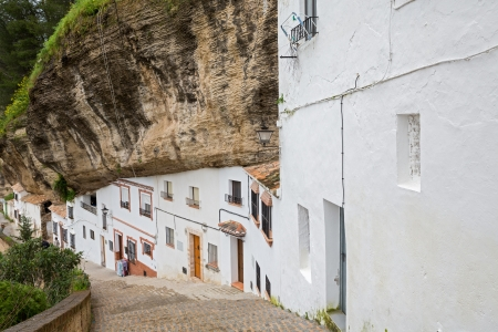 Rocks and houses Stockfoto