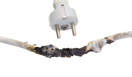 Burnt cable