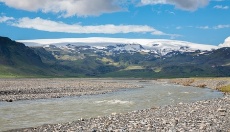 extreme terrain: Volcano and glacier river, the extreme terrain in Iceland
