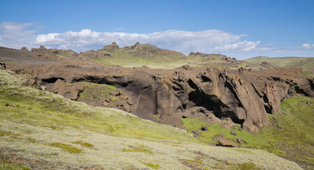 extreme terrain: Extreme terrain in Iceland Stock Photo