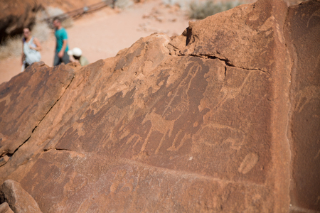 ���stone age���: Historic engravings from the Stone Age in Namib