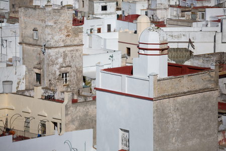 detailed view: Detailed view of tower in Cadiz, spain