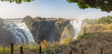 Victoria Falls and rainbow, Zimbabwe side