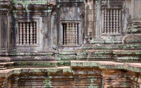 Closeup of Cambodia temple wall