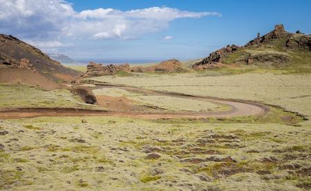 Track through Iceland landscape photo