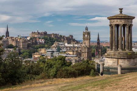 View of the castle from Calton Hill photo