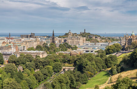 scott monument: Scott monument, Carlton Hill and gardens in Edinburgh