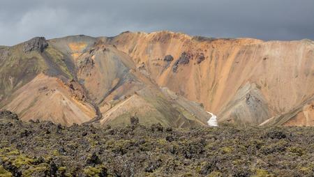 unbelievable: Landmannalaugar unbelievable lava landscape, Iceland Stock Photo