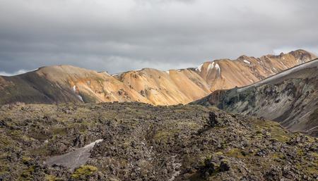 unbelievable: Landmannalaugar paisaje incre�ble de lava, Islandia