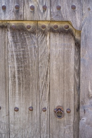 old wooden door: Old wooden door and lock