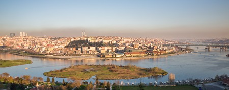 meander: Istanbul from cemetery and golden horn with meander, Turkey