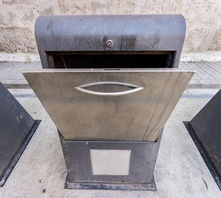 recolector de basura: Recolector de basura sucia en la ciudad