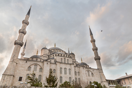 rear view: Blue mosque, rear view, Istanbul, Turkey Stock Photo