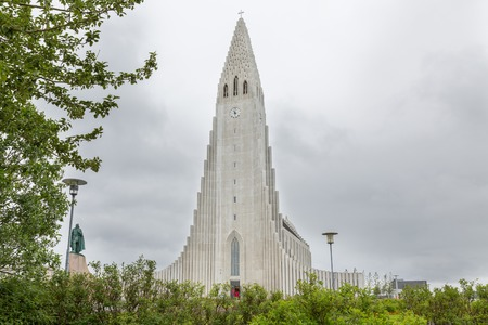 ericsson: Hallgrimskirkja Cathedral in Reykjavik, Iceland Stock Photo