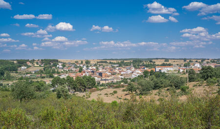 ices: View of Alca�ices town in Zamora, Spain