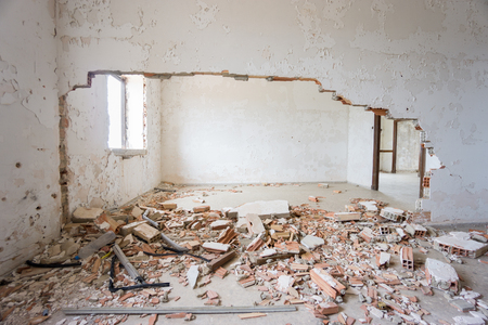 wall   wall: Abandoned and ruined house.