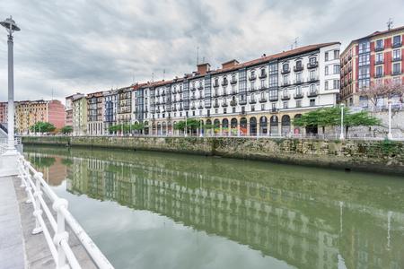 vieja: Bilbao la vieja and Nervion river Stock Photo