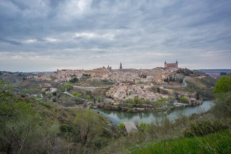 cloudy sky: Cloudy sky over Toledo at dusk, Spain Stock Photo