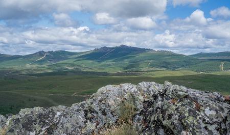 Top peak of snake mountain range in Zamora, Spain