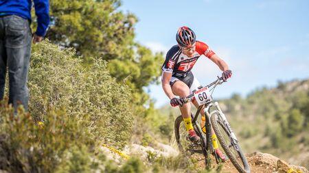 xavi: VALENCIA - MARCH 6: Xavi Calaf rider participates in international Chelva MTB-XCO competition in Chelva on march 6, 2016 in Valencia, Spain