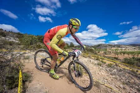 ruiz: VALENCIA - MARCH 6: Jose Luis Ruiz Dorado rider participates in international Chelva MTB-XCO competition in Chelva on march 6, 2016 in Valencia, Spain Editorial
