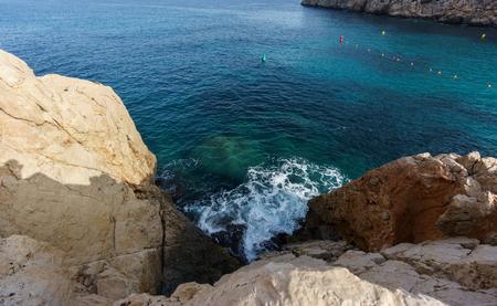 inlet bay: Rocks over mediterranean sea