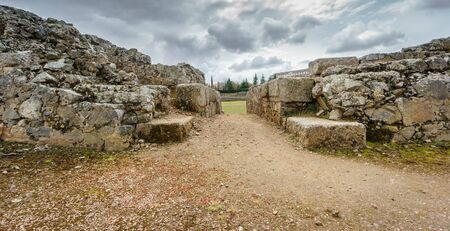''wide angle'': Wide angle entrance to Roman circus in Merida