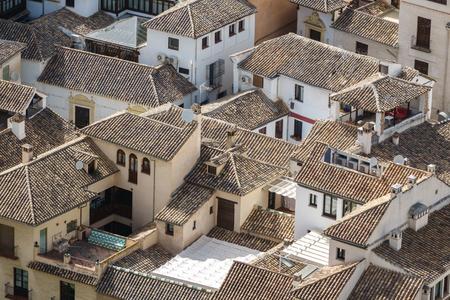 granada: Traditional roofs in Granada, Spain.