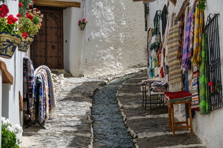 alpujarra: Detailed view of street in Alpujarra, Sierra Nevada, Granada
