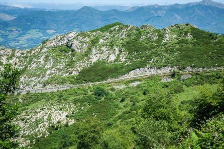 covadonga: Huesera, the famous Covadonga cycling ascending