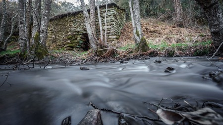disuse: Long exposure with vintage waterwheel and silk water