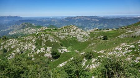 covadonga: Queen viewpoint, the famous Covadonga cycling mountain