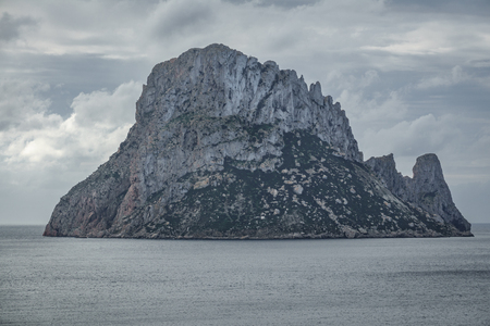 vedra: Picturesque and mysterious island of Es Vedra. Ibiza, Balearic Islands. Spain Stock Photo