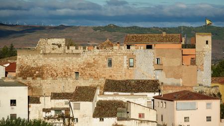 plan éloigné: Long shot of Grisel Castle over roofs