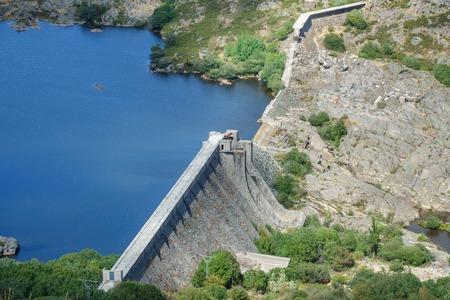 tera: Vega de Tera broken dam in Zamora, Spain