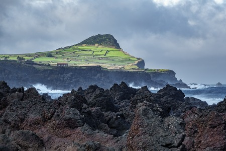 Biscoitos and volcanic rocs in Terceira, azores Stock Photo