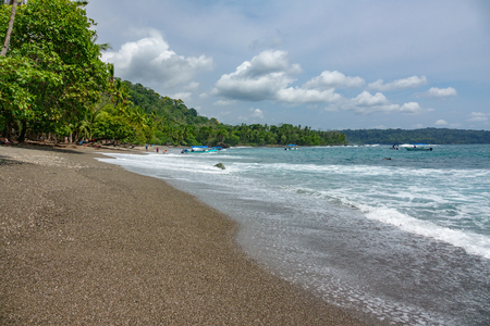 Corcovado National Park - beach view with tourists Imagens - 79872009