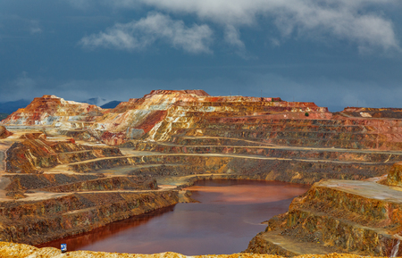 Rio Tinto mine on stormy day
