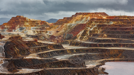 Rio Tinto colorful copper mine