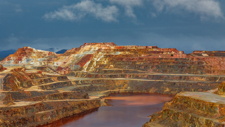 Rio Tinto mine on stormy day