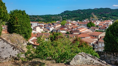 Galician village Allariz roofs Stock Photo