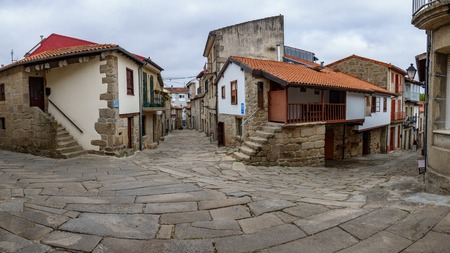 Galician village Allariz with its typical stone streets
