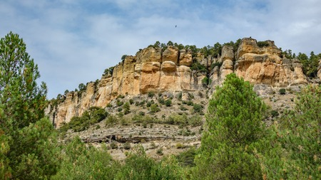 Landscape in Cuenca, wide angle Stock Photo