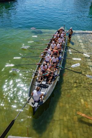 Fishing boat competition team preparing Sajtókép