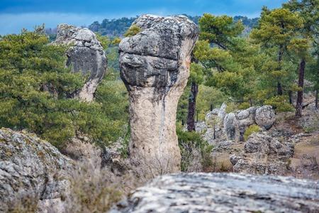 Karstic unreal formation in Cuenca