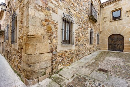 Small streets for large historical buildings, Caceres Spain