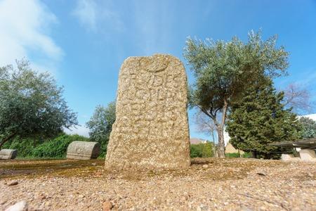 Old vintage graveyard stone